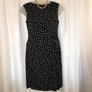 London Times Sleeveless Polka Dot Dress Size 12